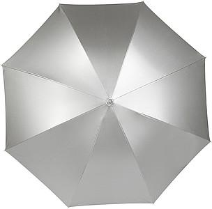 CARAVAGGIO Automatický deštník, stříbrné barvy - reklamní deštníky
