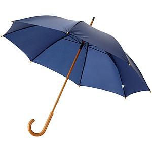 Klasický deštník s dřevěnou rukojetí, průměr 106cm, tmavě modrá