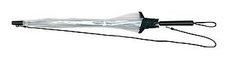 VELDE Automatický deštník, transparentní černá, pr.90cm