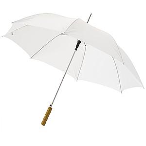 Automatický deštník s dřevěnou rukojetí, bílá