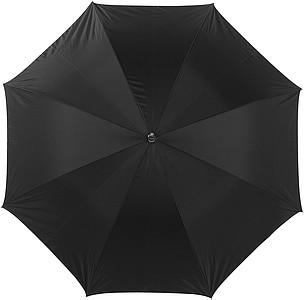 LAURENT Vystřelovací deštník se stříbrnou spodní stranou, černý, rozměry 104 x 83 cm