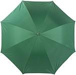 LAURENT Vystřelovací deštník se stříbrnou spodní stranou, zelený, rozměry 104 x 83 cm - reklamní deštníky