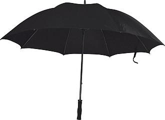 Deštník, velký, ruční otvírání, proti větru, černá