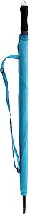 ERNST Golfový deštník, světle modrý, rozměry 130 x 102 cm - reklamní deštníky