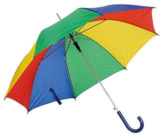 automatický deštník barevný. Průměr 103 cm.