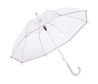 Transparentní deštník s hliníkovou tyčí, pr. 101 cm