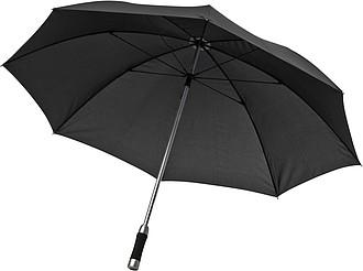 deštník s pěnovým držadlem, černá