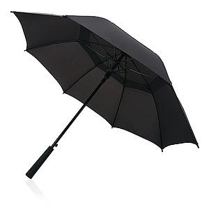 Automatický deštník Swiss Peak s dvojitým pláštěm, kovové tělo, černý - reklamní deštníky