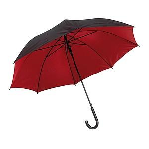 RICHTER Klasický automatický deštník, pr.103cm, černo červený