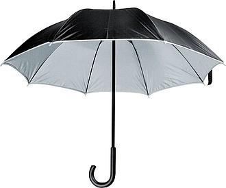 MURILLO Deštník, s dvojitým nylonovým krytím, průměr 105 cm, černá/stříbrná