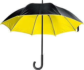 MURILLO Deštník, s dvojitým nylonovým krytím, průměr 105 cm, černá/žlutá