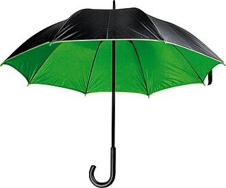 MURILLO Deštník, s dvojitým nylonovým krytím, černá, zelená
