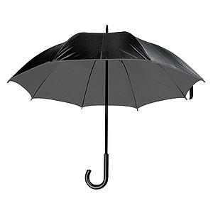 Deštník, s dvojitým nylonovým krytím, antracitový