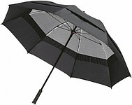Dvouvrstvý deštník o průměru 127 cm, černá