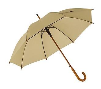 automat. deštník, béžová. Průměr 103 cm.