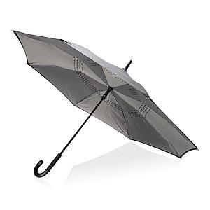 """23"""" manuální oboustranný deštník, šedý"""