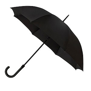 SANTANDER Pánský holový deštník, rukojeť imitace kůže, černá - pláštěnky