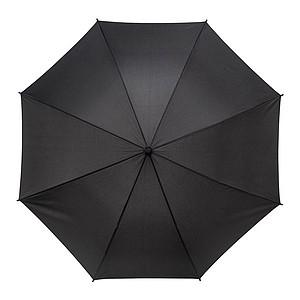 SANTANDER Pánský holový deštník, rukojeť imitace kůže, černá