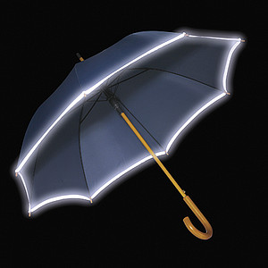 RUBENS Deštník s luminis. okrajem, modrý, rozměry 100 x 89 cm