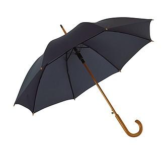 Automatický deštník, nám. modrá, dřevěná rukojeť, pr. 103 cm