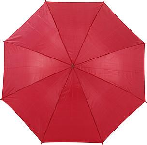 BOTTICELLI Vystřelovací deštník s barevným držadlem, červený, rozměry 100 x 84 cm - reklamní deštníky