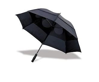 GOGH Deštník, černý, rozměry 130 x 100 cm