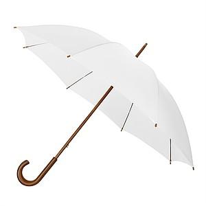 Elegantní větruodolný deštník se zahnutou rukojetí, průměr 102 cm, bílá