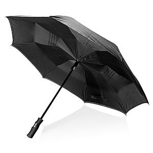 """Automatický 23"""" reverzní deštník Swiss Peak, černá"""