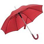 Klasický automatický deštník s pogumovanou rukojetí, červený