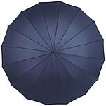Manuální 16ti panelový klasický deštník, modrý, rozměry 110 x 94 cm - reklamní deštníky