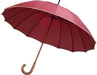 Manuální 16ti panelový klasický deštník, červený - reklamní deštníky