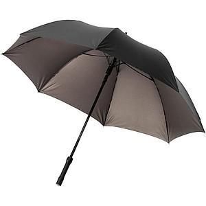 Holový deštník s LED světlem v rukojeti, černá/šedá
