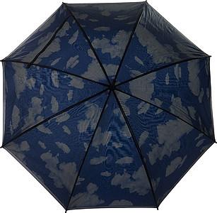 LIMBURK Dvouvrstvý deštník, černo modrý, obloha s mraky, rozměry 100 x 87 cm - reklamní deštníky