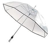 Transparentní deštník s hliníkovou tyčí, pr. 110 cm