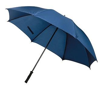 Deštník pro dvě osoby odolný proti větru, tm. modrá. pr131cm