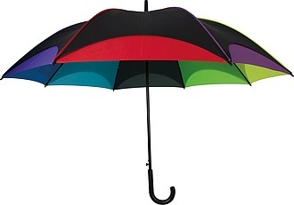 SETUBAL Automatický deštník XXL v barvách duhy