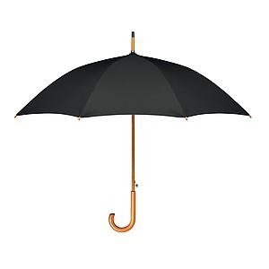 Deštník s automatickým otevíráním ze 190T RPET pongee, pr. 107cm, černý