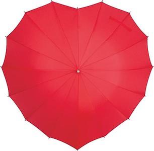 Deštník ve tvaru srdce,červená - pláštěnky
