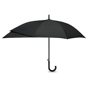 Deštník s automatickým otevíráním, rozšířená část pro ochranu batohu, černý