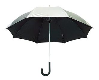 Dvoubarevný deštník, černá stříbrná, pr. 120 cm