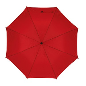 Deštník s pouzdrem, červená, pr. 125 cm