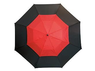 Laminátový deštník s větráním, černočervená