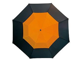 Laminátový deštník s větráním, černooranžová