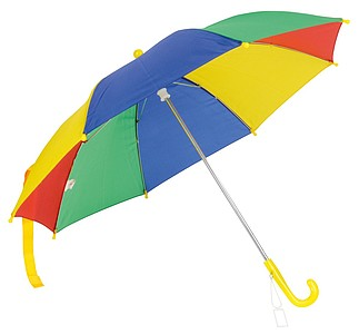 automatický dětský deštník barevný. Průměr 72 cm.