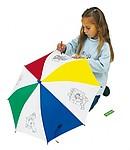 ARTIST aut. deštník pro děti (pr.72cm) s omalovánkami+4vosk.