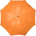 GESLER Automatický deštník, rozměry 100 x 86 cm, stříbrný uvnitř, nylon190T, neon.oranžový - reklamní deštníky