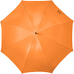 GESLER Automatický deštník, rozměry 100 x 86 cm, stříbrný uvnitř, nylon190T, neon.oranžový