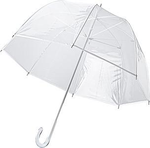 Transparentní PVC deštník, rozměry 94 x 82 cm