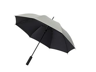 Automatický deštník z venku stříbrný, uvnitř černý