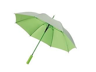 Automatický deštník z venku stříbrný, uvnitř zelený